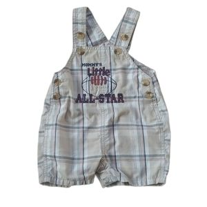 FIRST MOMENTS Baby Boy Short Plaid Overalls, 6m